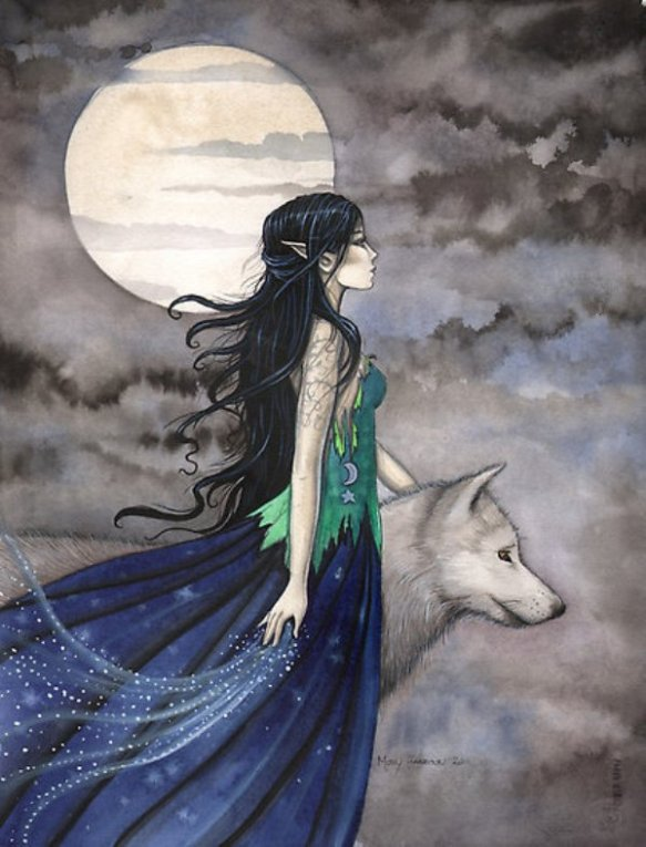 Fantasy wolf with girl tumblr_mjhakiLh1g1s5dhuno1_500