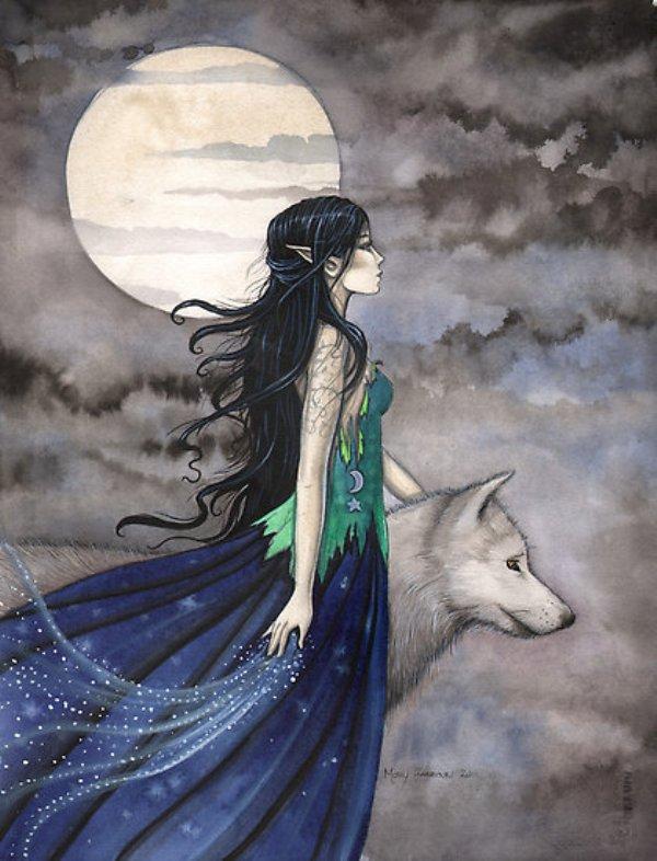 Fantasy wolf with girl tumblr_mjhakiLh1g1s5dhuno1_500